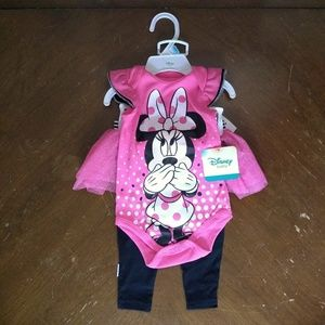 (NWT) Disney Minnie Mouse Two Piece Set